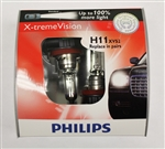 Philips H7 X-treme Vision Halogen Bulbs H11XVS2