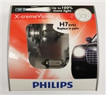 Philips H7 X-treme Vision Halogen Bulbs 12972XVS2