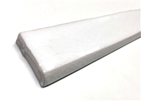 1.5x12 Bullnose White Crackled Ceramic Trim Tile