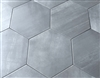 10.2 x11.4 Gray Hexagon Gris Porcelain Tile Floor and Wall (BOX OF 9)