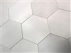 10.2 x11.4 Mama Mia Hexagon Argento Soft Gray Porcelain Floor Tile