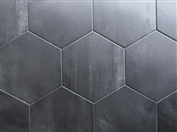 10.2 x11.4 Mama Mia Hexagon Graphite Porcelain Floor Tile (BOX OF 9)