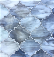 Arabesque Grey 11.5X13 Glass Tile Mosaic