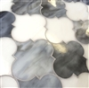 Arabesque Grey White 11.5X13 Glass Tile Mosaic