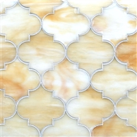 Arabesque Lantern Onyx 11x13 Glass Mosaic Tile