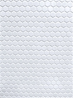 "1"" White Glossy Hexagon Porcelain Mosaic Floor and Wall Tile"