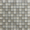 Beige Multi 1x1 Matte Frosted Glass Mosaic