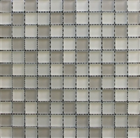 Beige Multi 1x1 Matte Frosted Glass Mosaic Tile