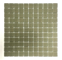 "1""x1"" Sierra Glass Mosaic Tile Matte Frosted Finish Thick Shower Wall Spa Bath"