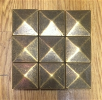 Gold Genuine Metal Pyramid 1x1 Wall Decorative Inserts Art Craft