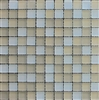 1X1 Palm Beach Blend Glass Mosaic Tile Matte Frosted Finish