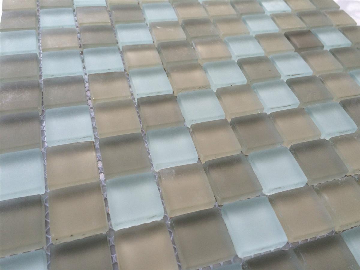 Palm Beach 1x1 Matte Frosted Glass Mosaic