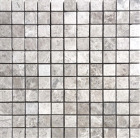 Gray 1x1 Honed Marble Mosaic Tile