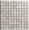 1X1 Light Tumbled Rounded Edge Travertine Wall Mosaic Tile