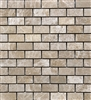 "Emperador Light 1""x2"" Polished Marble Mosaic Tile"
