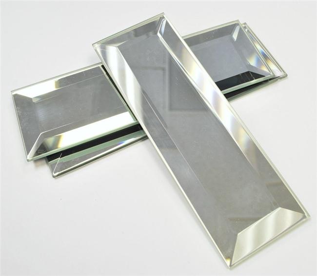 2 Quot X6 Quot Wide Beveled Mirror Decorative Tile Accent Piece