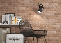 "2.5"" x 10"" Manhattan Red Brick Porcelain Wall Tile"