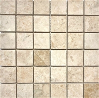 Cappucino Beige Marble 2x2 Brushed Straight Edge Wall and Floor Tile