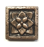 Flora 2x2 Gold-Bronze Resin Decorative Insert Accent Art Craft Tile