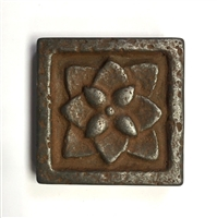 Iron Age 2x2 Flora Metallic Resin Decorative Insert Accent Piece