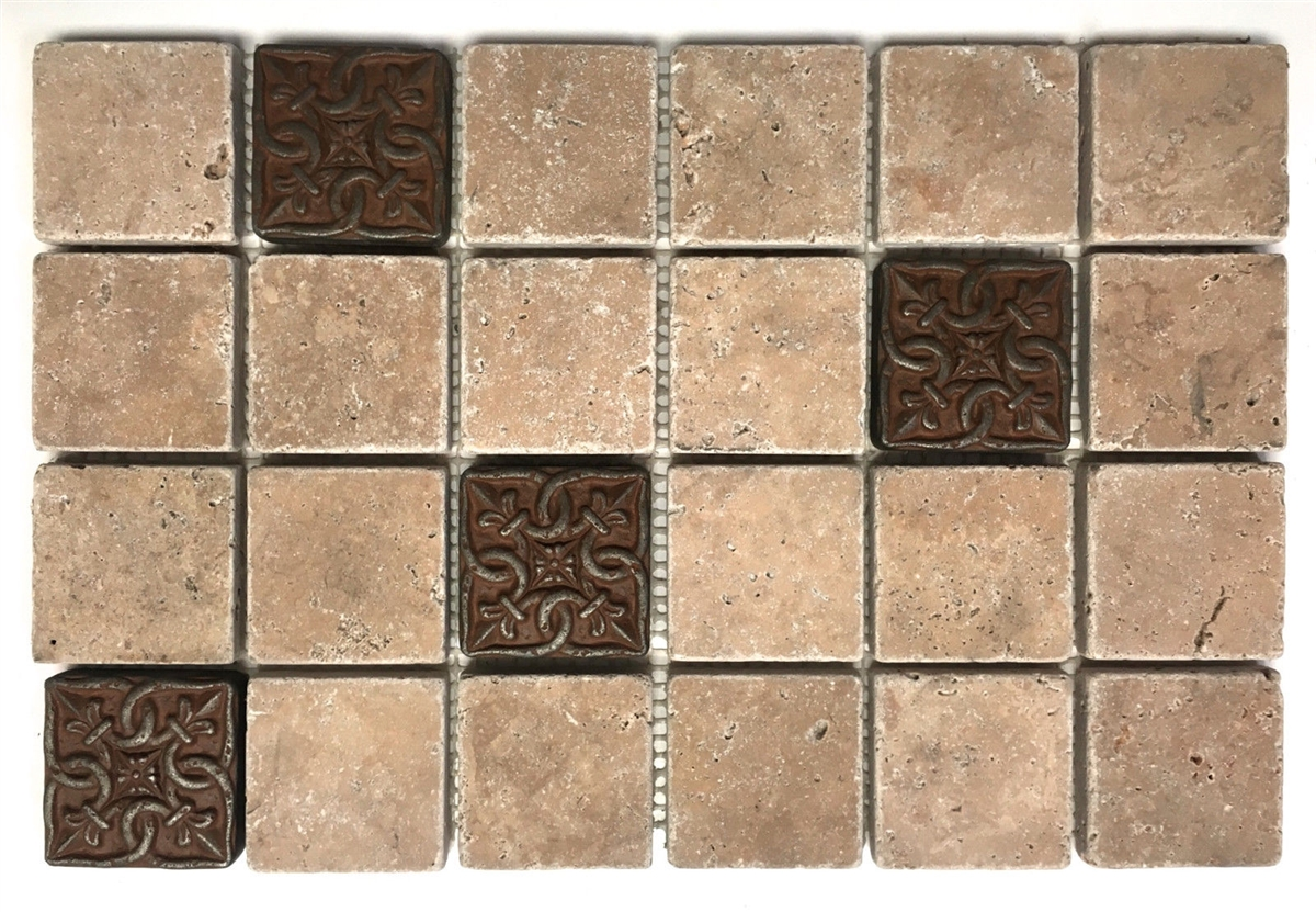 Iron Age Gordion 2x2 Metallic Resin Decorative Insert