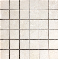 2x2 Beige Matte Porcelain Floor and Wall Mosaic Tile