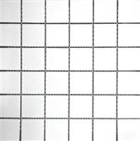 White 2x2 Shiny Porcelain Mosaic Tile Backsplash Wall