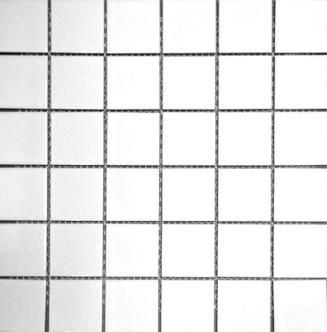 White 2x2 Shiny Porcelain Mosaic Tile