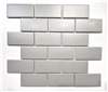 2x4 Gray Matte Subway Ceramic Tile