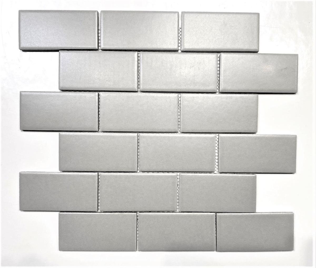 2x4 Gray Matte Subway Ceramic Tile
