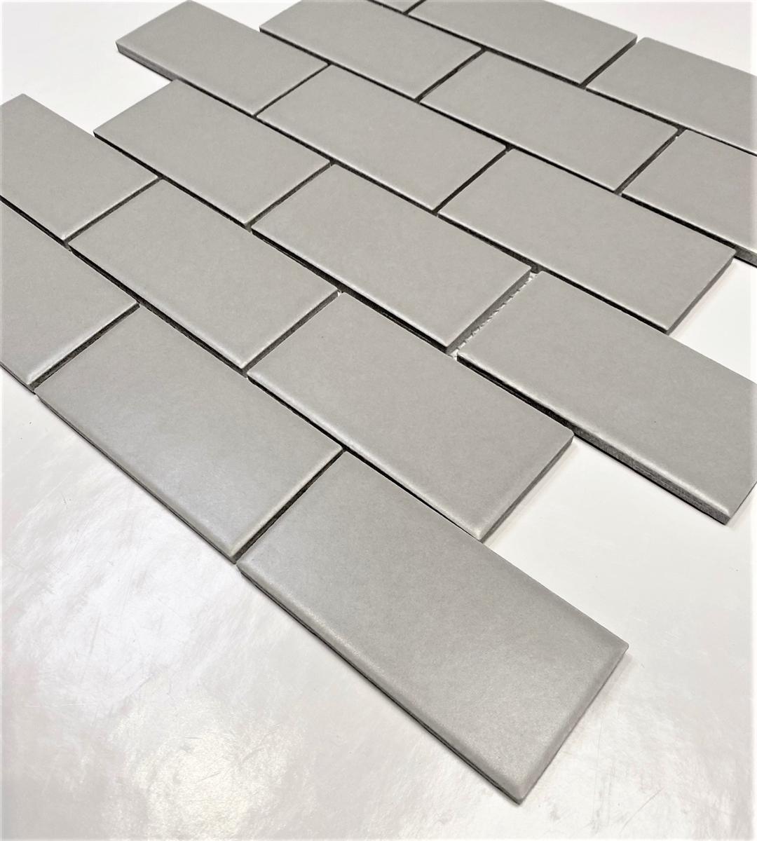 - 2x4 Gray Matte Subway Ceramic Tile