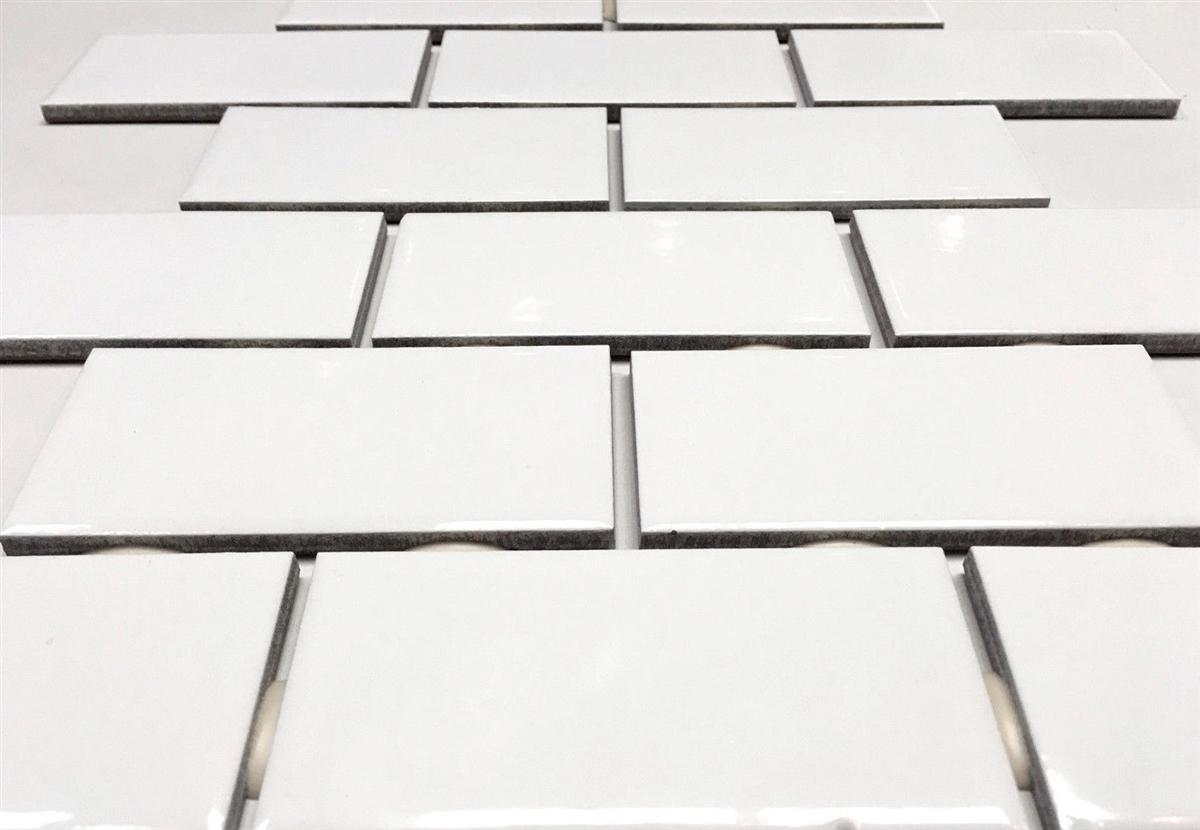 2x4 White Subway Glossy Ceramic Tile