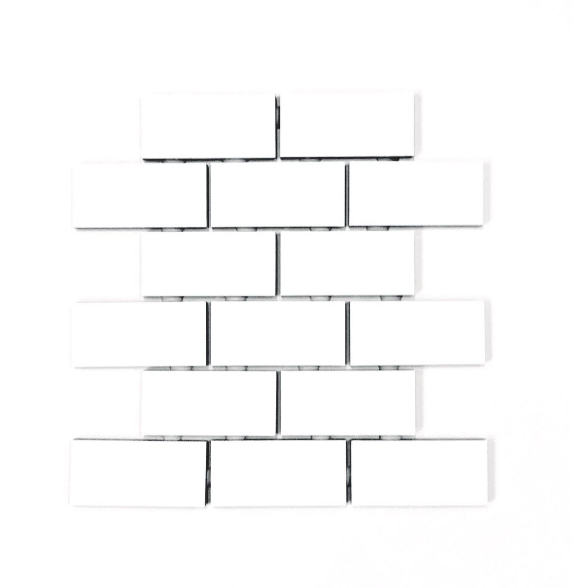 X White Subway Glossy Ceramic Tile - 4x4 matte white ceramic tile