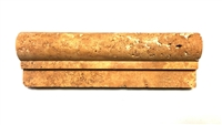 2X6 Gold Travertine Chair Rail Ogee Profile Molding Trim piece Wall Liner Tile