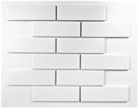 White 2x6 Brick Matte Ceramic Mosaic Tile