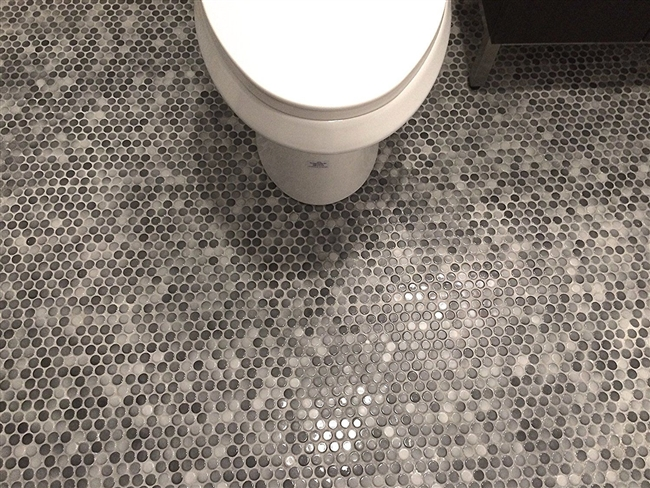 Gray Porcelain Mosaic Wall And Floor Tile