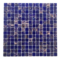 3/4 x 3/4 Blue Violet Glimmer Glass Mosaic Wall Tile