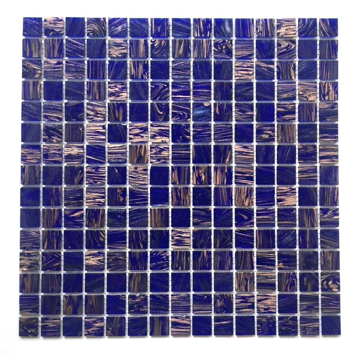 3 4 X Blue Violet Glimmer Gl Mosaic Wall Tile