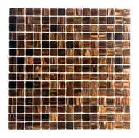 3/4 x 3/4 Copper Gold Glimmer Glass Mosaic Wall Tile