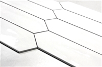 3x12 Modena Collection White Glazed Ceramic Wall Tile
