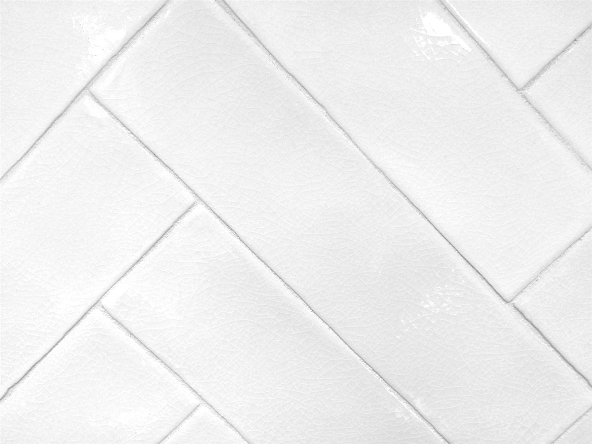 3x12 White Crackled Glaze Ceramic Tile