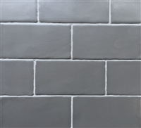 3x6 Dark Gray Matte Subway Ceramic Tile