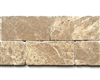 "Emperador Light 3""x6"" Tumbled Marble Floor and Wall Tile"