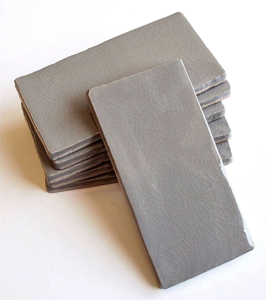 3x6 Gray Crackle Glaze Subway Ceramic Tile