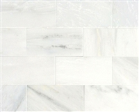 White Carrara Subway 3x6 Honed Finish Marble Wall Tile