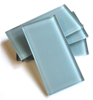 Powder Blue 3x6 Shiny Subway Glass Tile Backsplash Shower Kitchen