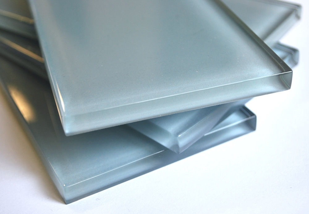 Powder Blue 3x6 Shiny Subway Glass Tile Backsplash Shower Kitchen