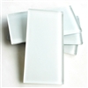 Powder White 3X6 Shiny Subway Glass Tile