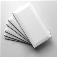 White 3x6 Beveled Shiny Glossy Finish Ceramic Subway Tile