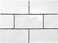 3x6 White Crackled Glaze Ceramic Tile, Wall and Backsplash